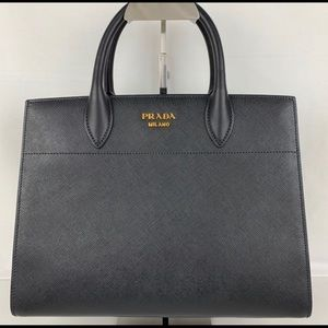 Prada Bibliotheque Saffiano Medium City Tote Bag